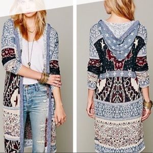 RARE❗️ Patterned Free People Cardigan